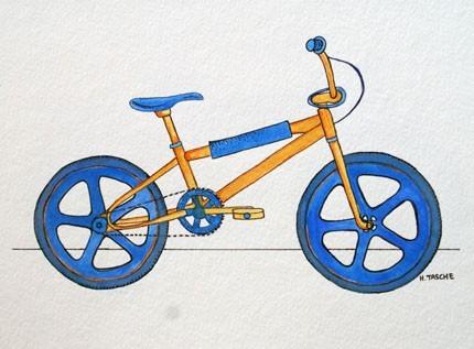 Hillarie Tasche 'Orange + Blue BMX' Edition of 50 Size: 10 x 8 Inches [caption id=