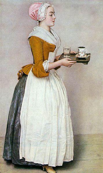 Jean-Étienne Liotard 'The Chocolate Girl' Pastel On Parchment Size: 52.5× 82.5cm