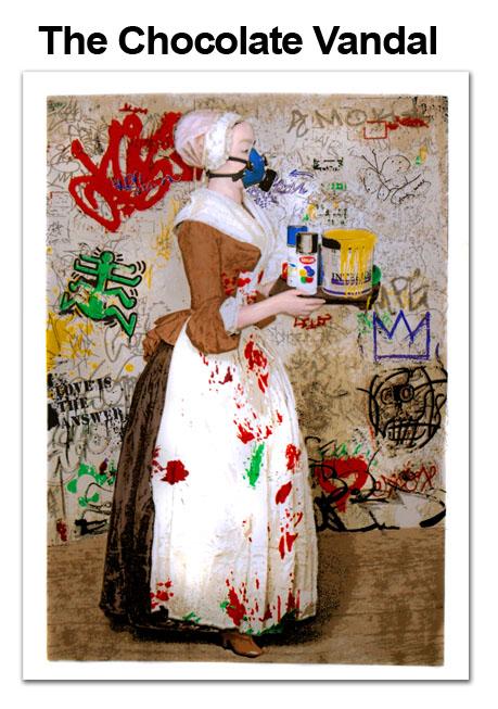 Mr. Brainwash 'Chocolate Vandal' Edition of 50 Size: 22 x 30 Inches [caption id=