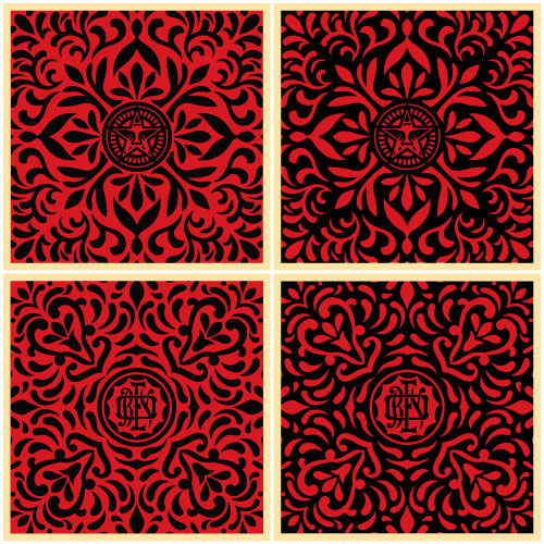 Japanese Black+Red Edition of 100 Size: 18 x 18 Inches [caption id=