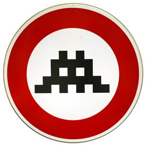 Space Invader 'Traffic Sign' €3000