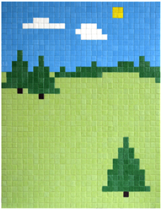 Space Invader 'Twin Peaks' €5000