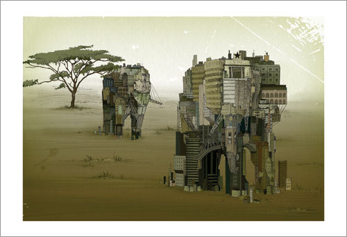 Andrea Offermann 'Africa' Edition of 100 Size: 19 x 13 Inches <a href=