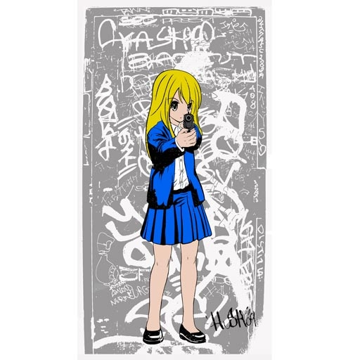 Hush 'G Girl' Blue Edition of 150 Size: 28 x 60 cm £115 Each