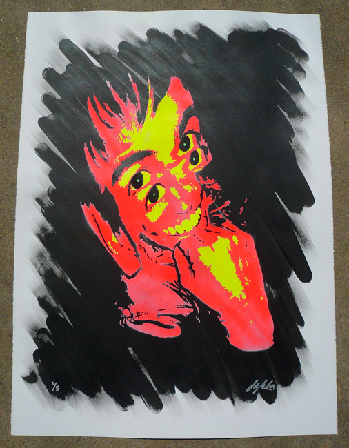 Ian Millard 'Caler' Red Edition of 5 Size: 22 x 30 Inches $60 Each