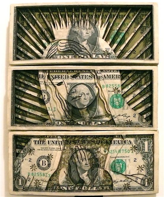 dollar bill artwork. Cut Dollar Bill Stacks