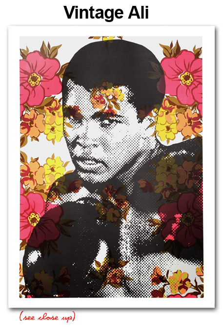 Mr Brainwash 'Vintage Ali' Edition of 35 Size: 22 x 30 Inches
