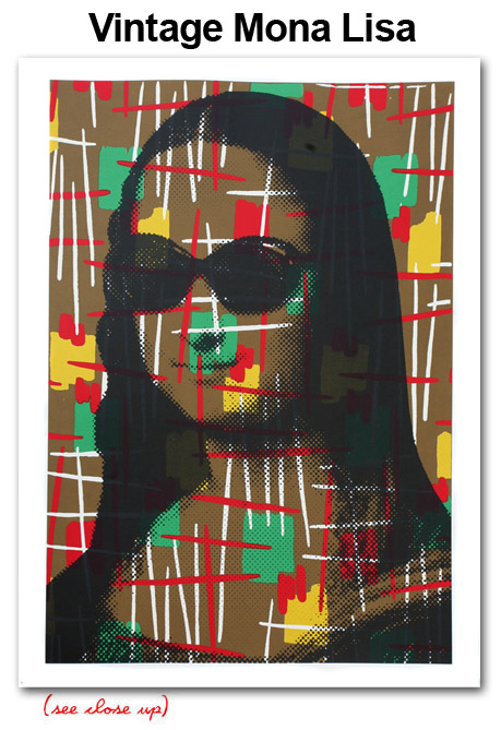 Mr Brainwash 'Vintage Mona Lisa' Edition of 35 Size: 22 x 30 Inches