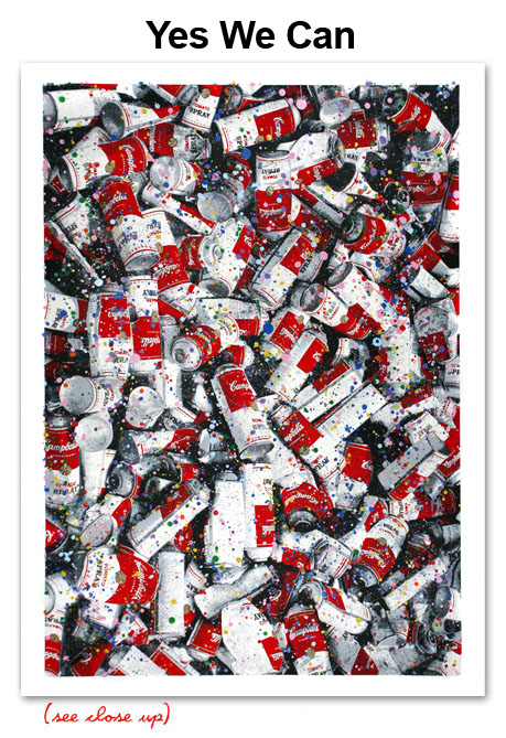 Mr Brainwash 'Yes We Can' Edition of 30 Size 22 x 30 Inches [caption id=