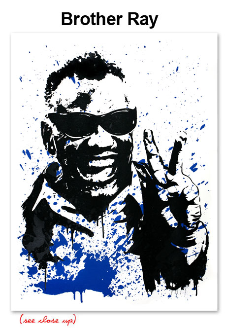 Mr Brainwash 'Brother Ray' Edition of 50 Size: 22 x 30 Inches $10 Each