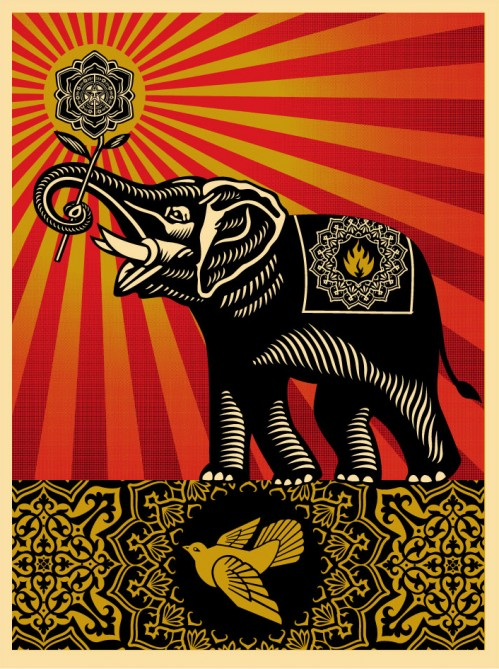 Obey 'Elephant' Edition of 450 Size: 18 x 24 Inches $50ish Each