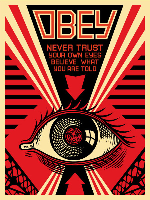 Obey 'Eye Poster' Edition of 450 Size: 18 x 24 Inches <a href=