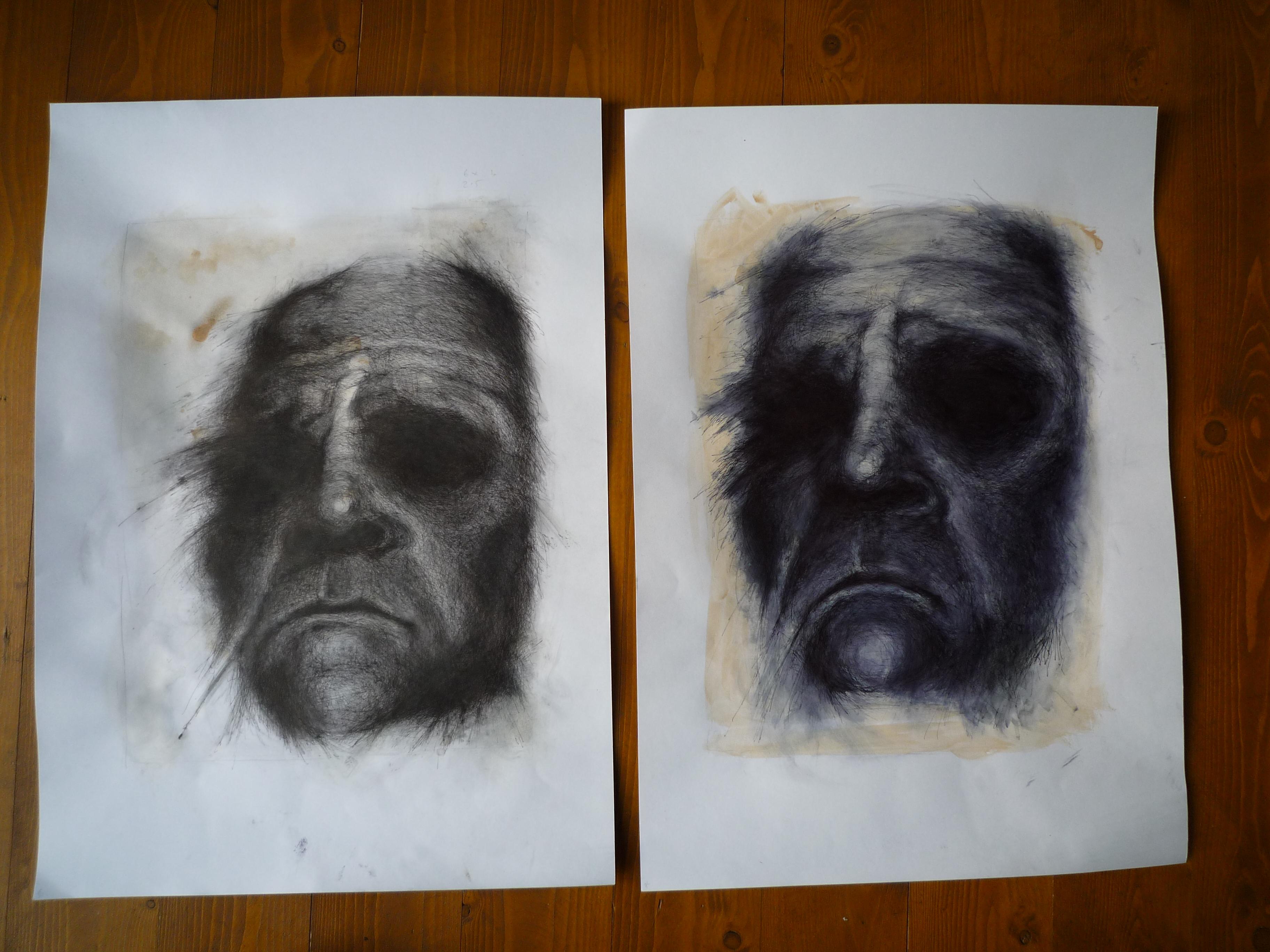 Simon Riley 'Study Series' Originals Pen On Paper Size: 42x 29 cm £155 Each