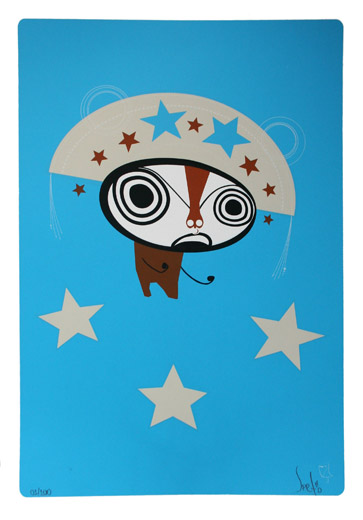 Speto 'Bandit' Blue Edition of 150 Size: 13 x 19 Inches £75 Each