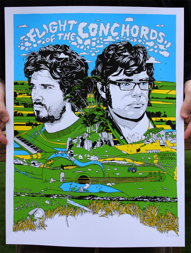 Tyler Stout 'Flight Of The Conchords' Edition of 350 Size: 18 x 24 Inches <a href=
