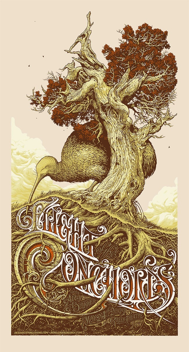 Aaron Horkey 'Flight Of The Conchords' Edition of 50 Size: 17.5 x 32.5 Inches $
