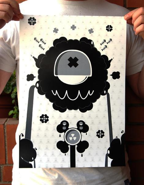 Okrabelo 'Dark Hide' Edition of 40 Size: 297 x 420mm €10 Each