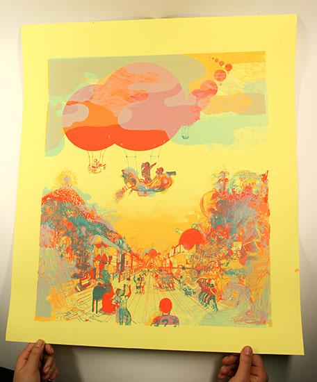 Raphael Urwiller 'Montgolfier' Edition of 40 Size: 45 x 52cm €15 each