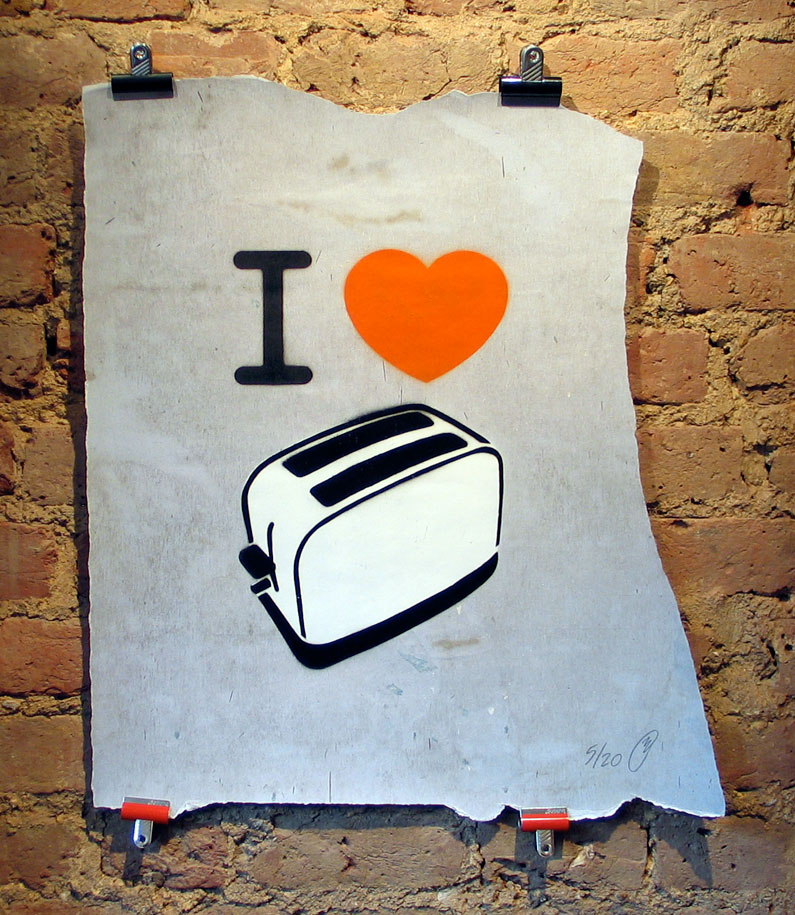Toaster 'I Heart Toaster' Edition of 20 Size: 45 x 67cm £300 Each