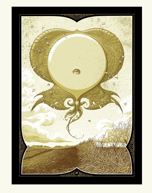 Aaron Horkey 'Eryops Rising' Edition of 100 Size: 8.5 x 11 Inches $75 Each