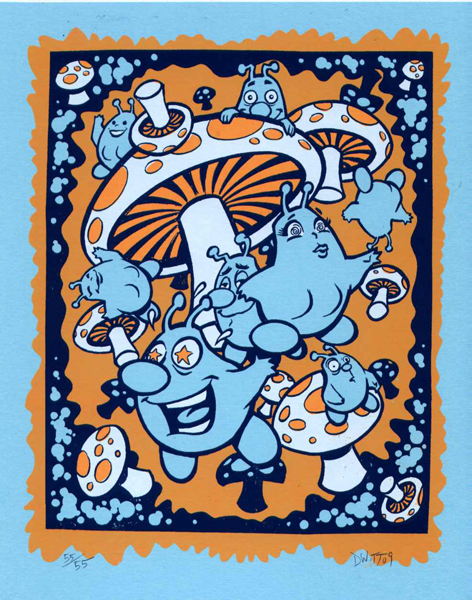 David Witt 'Beanbugs Trippin' Edition of 55 Size: 8 x 10 Inches [caption id=