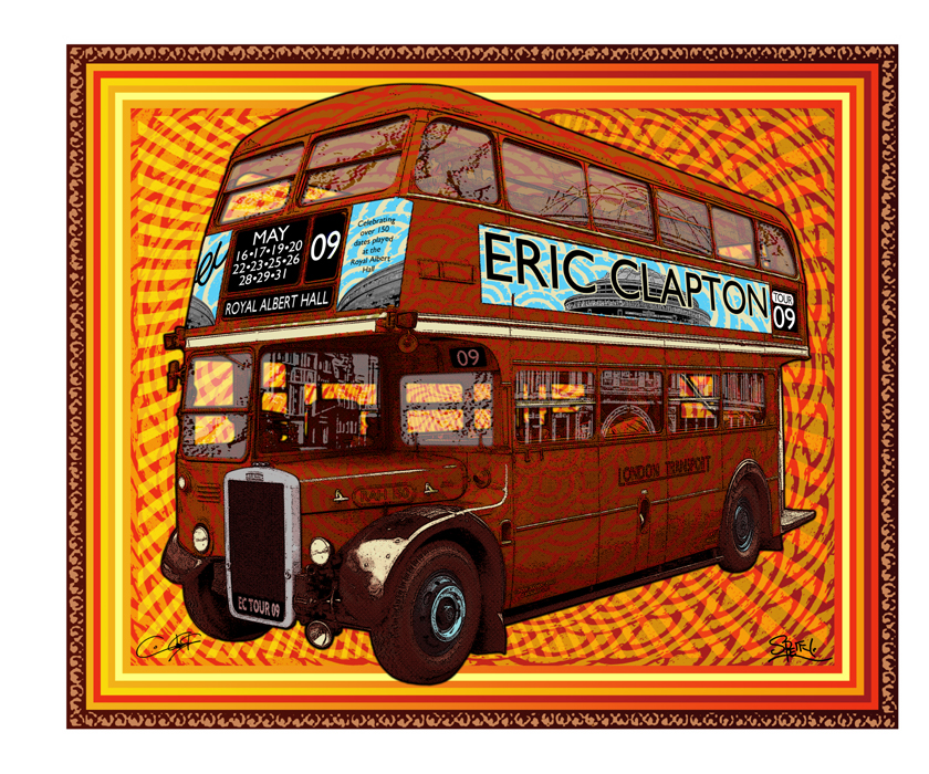 Eric Clapton 'Royal Albert Hall' Edition of 1000 Size: 25 x 21 Inches $50 Each