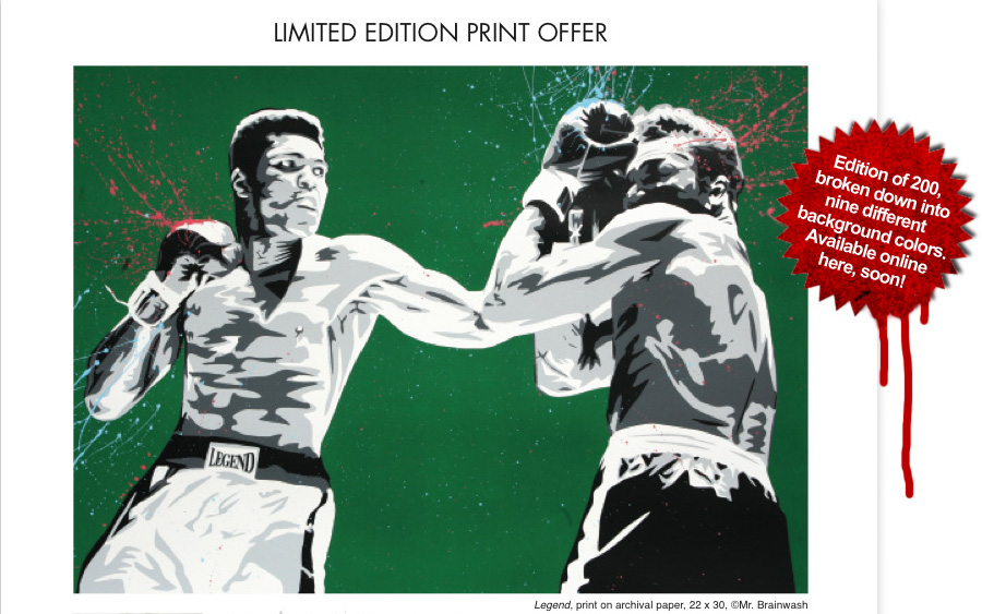 Mr Brainwash 'Legend' Edition of 200 Size: 30 x 22 Inches [caption id=