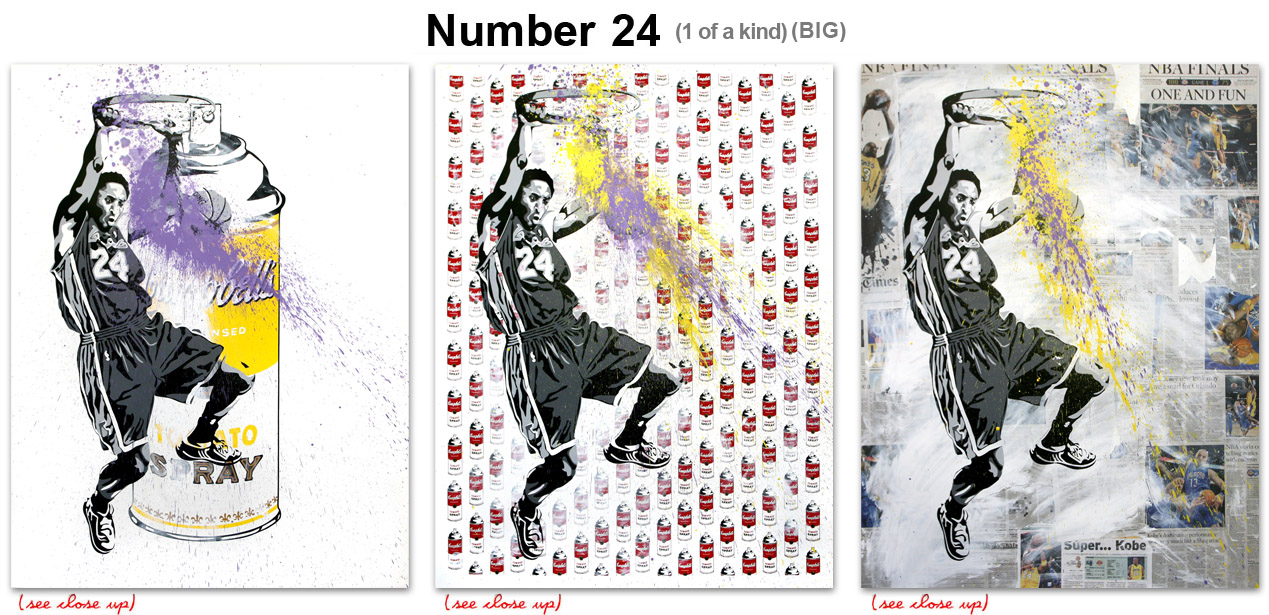 Mr Brainwash 'Number 24' Aerosol or Campbell's or Sports Section [caption id=