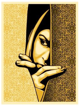Obey 'Palestine Woman' Gold Edition of 475 Size: 18 x 24 Inches $52.50 Each