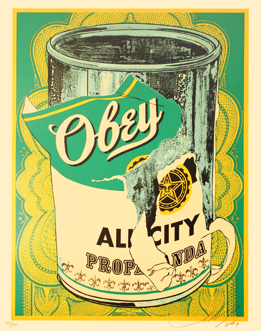 Obey 'Soup Can' Edition of 200 Size: 16 x 20 Inches [caption id=