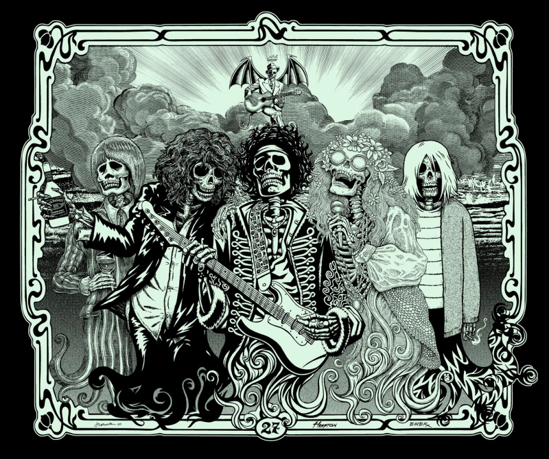 PNE '27 Club' Glow In The Dark Edition of 100 Size: 28 x 24 Inches $100 Each