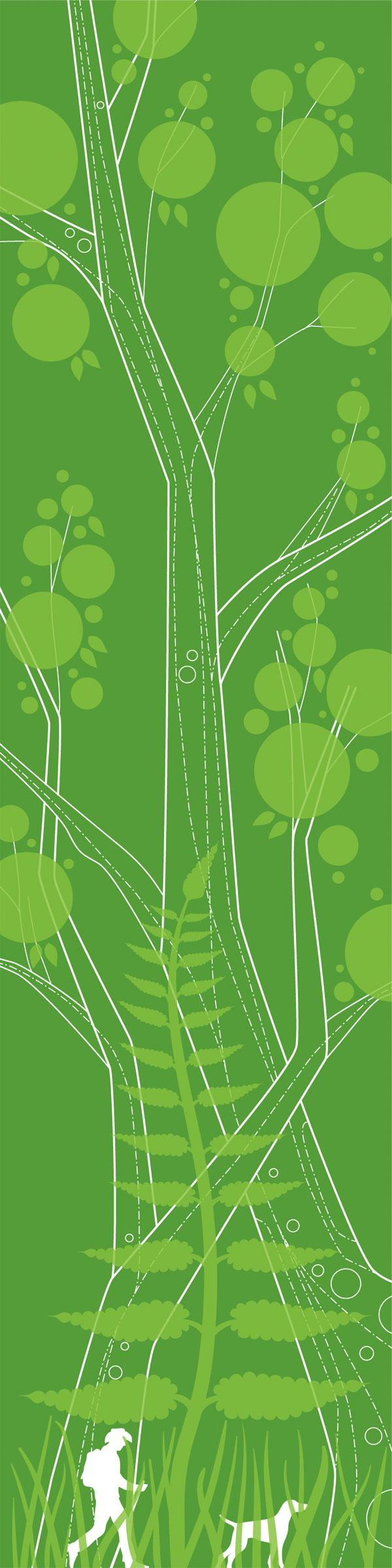 Sub Studio 'Arboreal' Size: 8 x 20 Inches