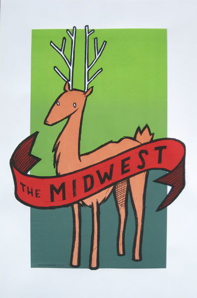 Jay Ryan 'The Midwest' Edition of 330 Size: 25 x 38 Inches