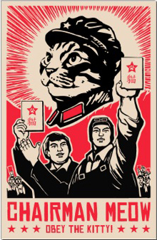 Kevin McCormick 'Chairman Meow' Size: 23 x 35 Inches [caption id=