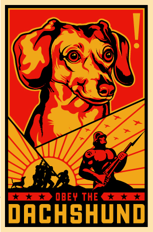Kevin McCormick 'Dachshund' Size: 23 x 35 Inches [caption id=