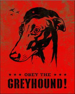 Kevin McCormick 'Greyhound' Size: 16 x 20 Inches [caption id=