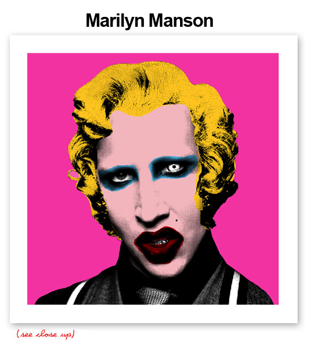 Mr Brainwash 'Marilyn Manson' Edition of 100 Size: 15 x 15 Inches [caption id=