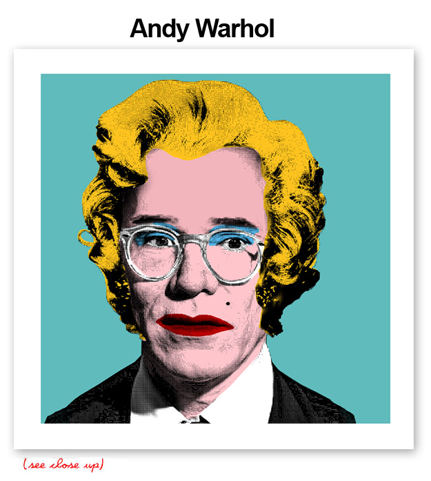 Mr Brainwash 'Andy Warhol' Edition of 100 Size: 15 x 15 Inches [caption id=
