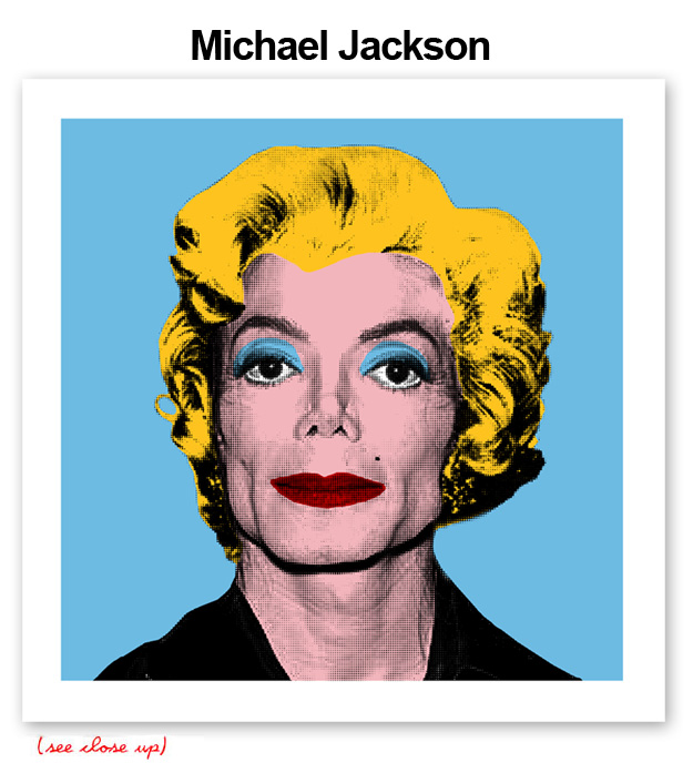 Mr Brainwash 'Michael Jackson' Edition of 100 Size: 15 x 15 Inches [caption id=
