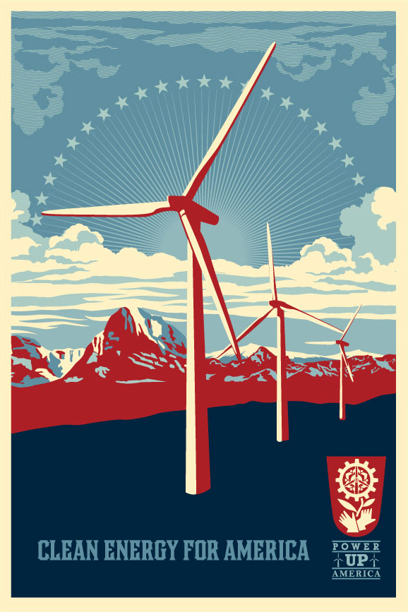 Obey 'Power Up Windmill' Offset Edition Size: 24 x 36 Inches