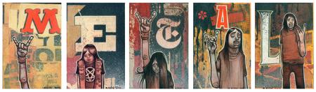 Reuben Rude 'M.E.T.AL' Edition of 20 Size: 8 x 26 Inches $65 Each