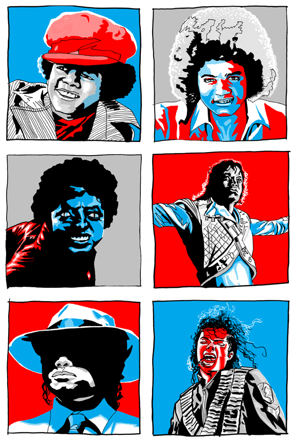 Tim Doyle 'Michael Jackson x 6' Edition of 100 Size: 16 x 24 Inches