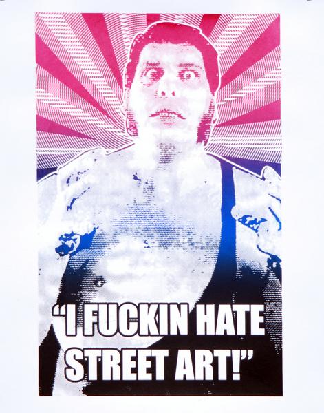 Two Rabbits 'I Fuckin Hate Street Art'