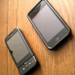 Android G1 and Apple iPhone 3G (with case)