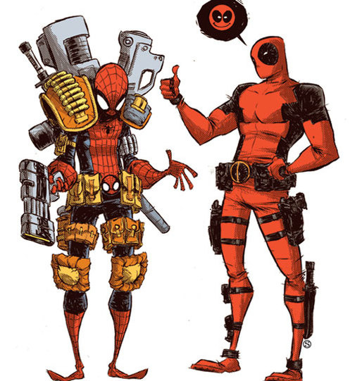 504x_spider_man_vs__deadpool_cover_by_skottieyoung