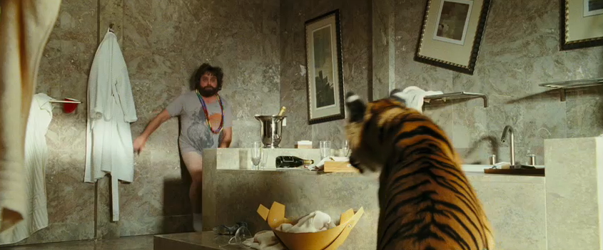 Movie review the hangover best comedy of the year for The hangover tiger in the bathroom