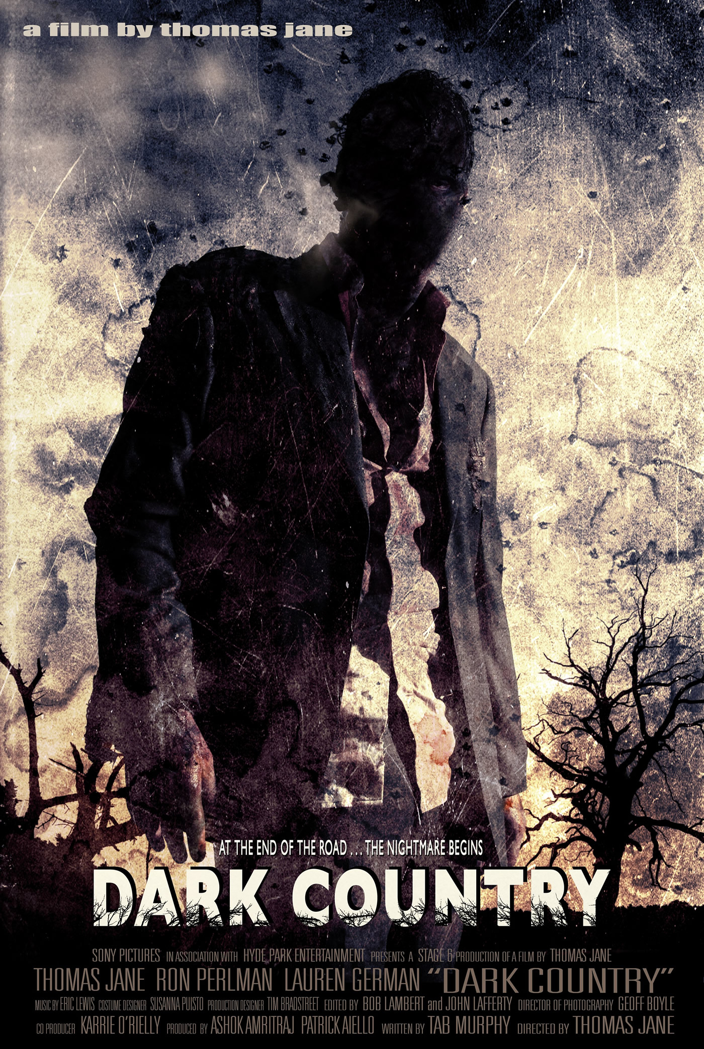 movie poster for thomas janes new film dark country