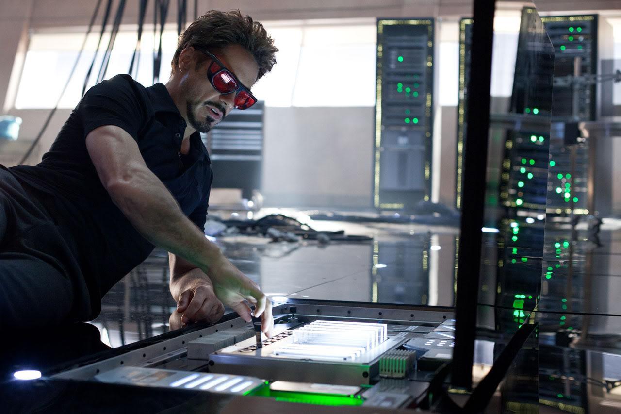New iron man 2 image of tony stark working on something for Bureau 13 movie