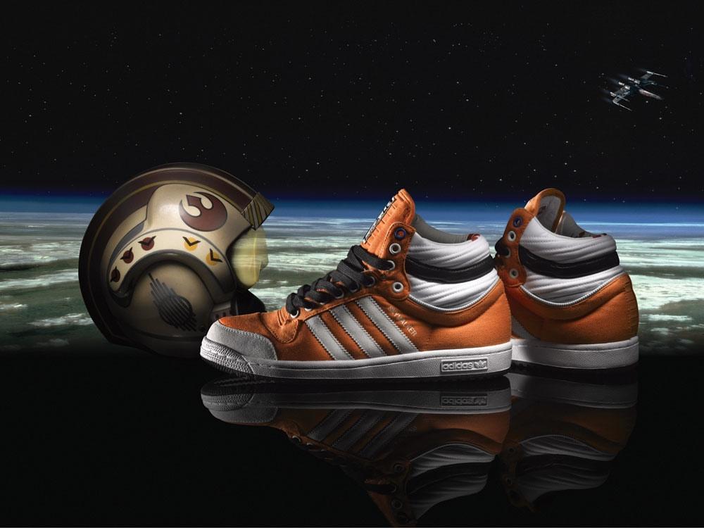 adidas und lucasfilm team mit super - star - wars - schuhe und