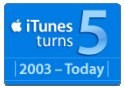 iTunes turns 5